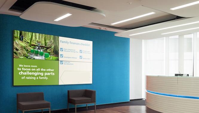 banca cartelería digital