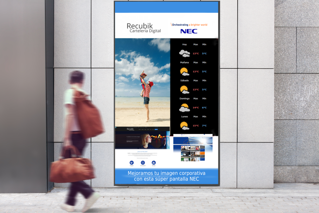 pantalla digital signage NEC