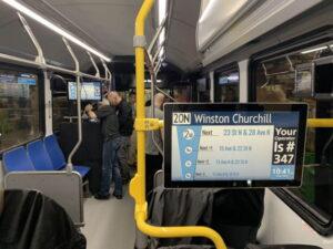 Señalización digital de autobuses